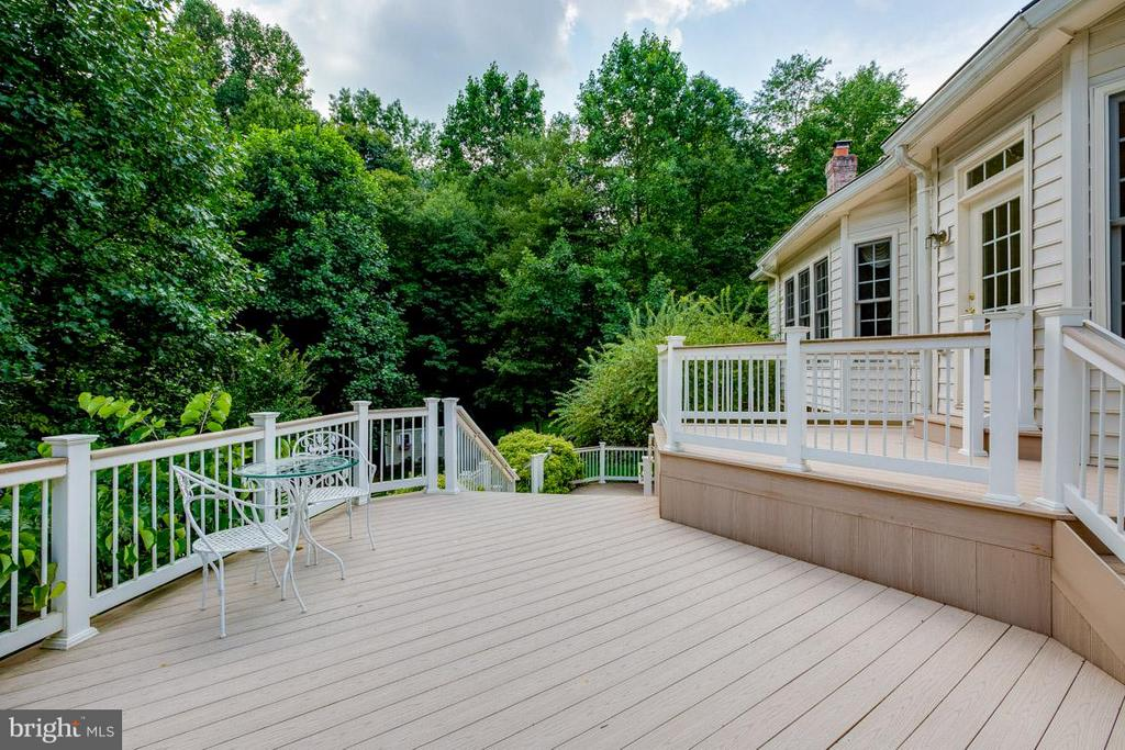 Dine al fresco with views of wooded preserve - 16952 OLD SAWMILL RD, WOODBINE