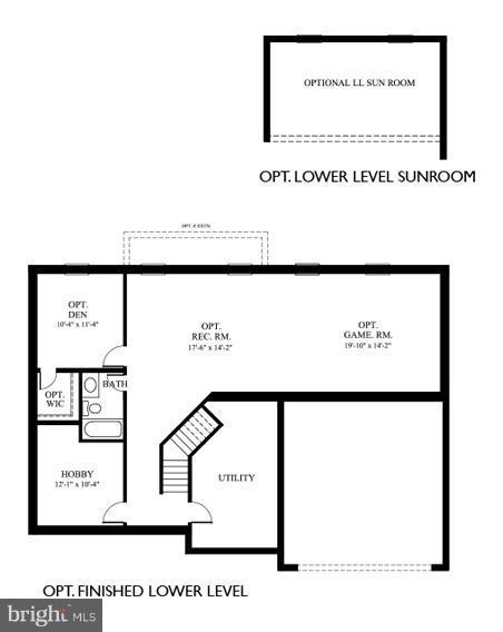 Basement floor plan - 12503 MEADOWOOD DR, SILVER SPRING