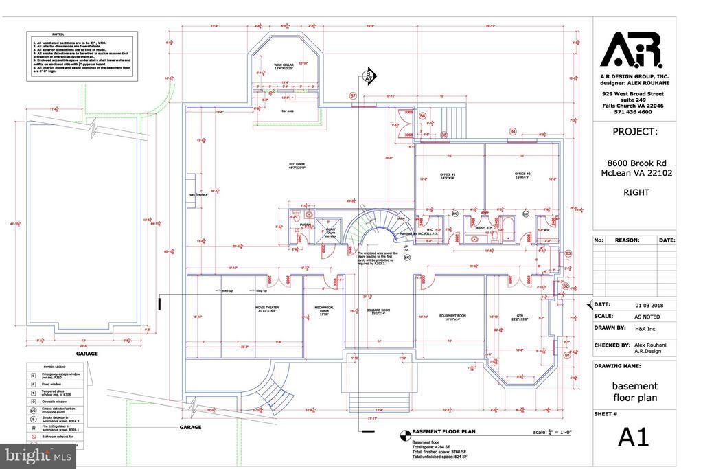 Basement - 8604 BROOK RD, MCLEAN