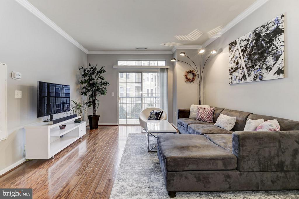 LIVING ROOM - FLOOR-TO-CEILING WINDOWS! - 2465 ARMY NAVY DR #1-210, ARLINGTON