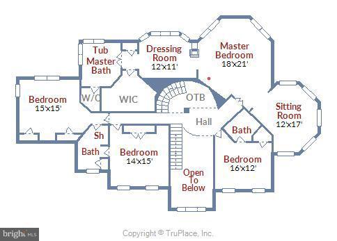 Upper Level Floor Plan - 11305 PEACOCK HILL WAY, GREAT FALLS