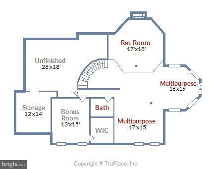 Lower Level Floor Plan - 11305 PEACOCK HILL WAY, GREAT FALLS