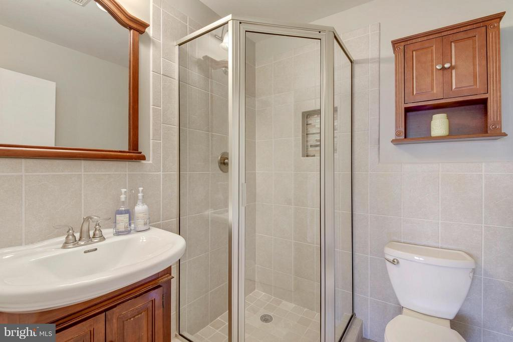 Master Bath w/ Glass Enclosed Shower - 4643 MAYHUNT CT, ALEXANDRIA