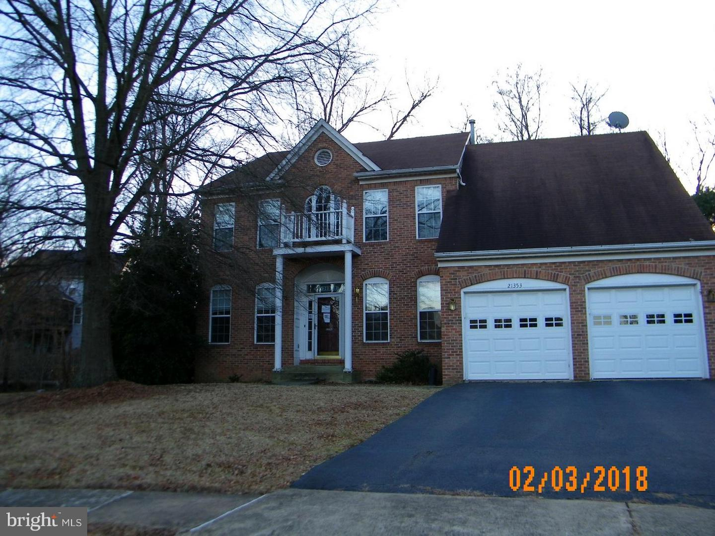 Photo of home for sale at 21353 Flatwood Place, Sterling VA
