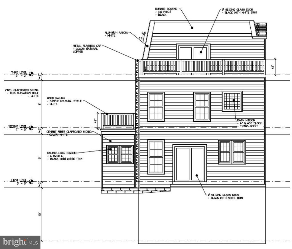 Rear Elevation - 426 MILL ST, OCCOQUAN