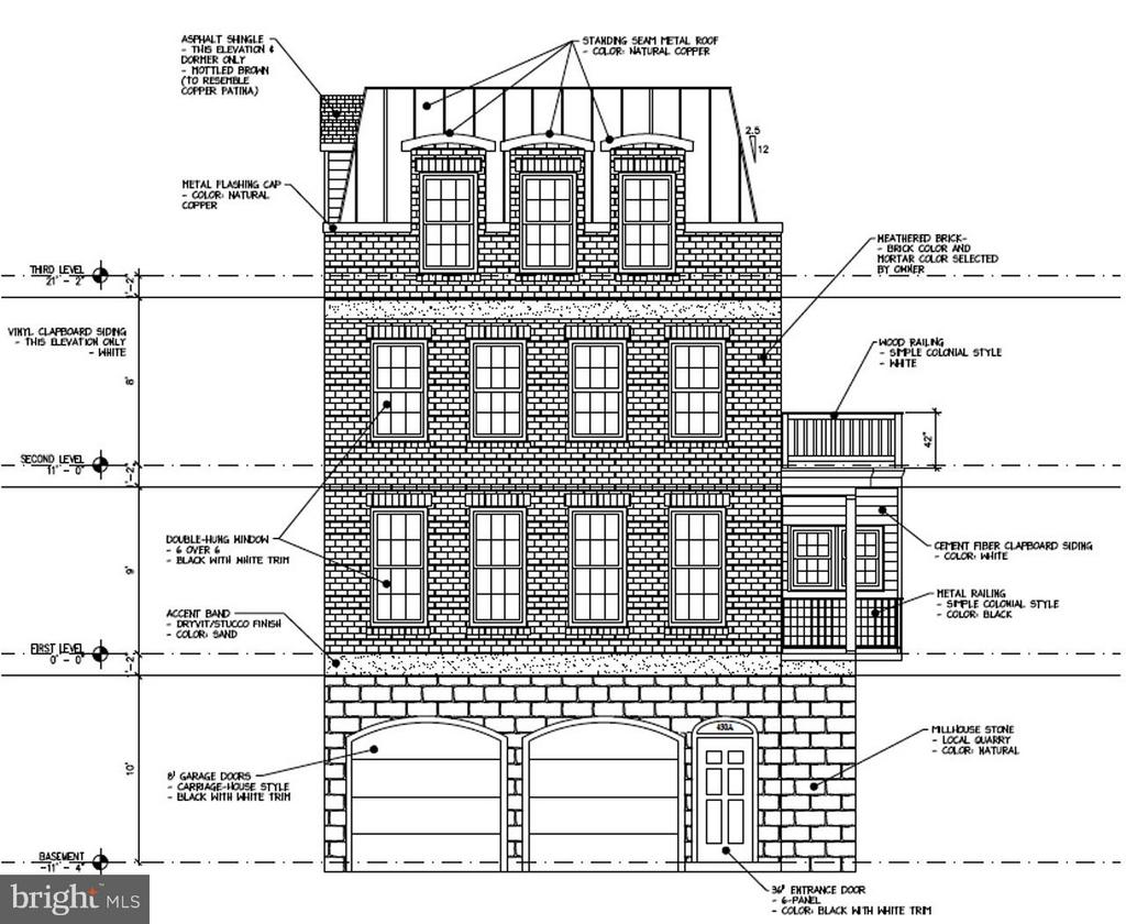Front Elevation - 426 MILL ST, OCCOQUAN