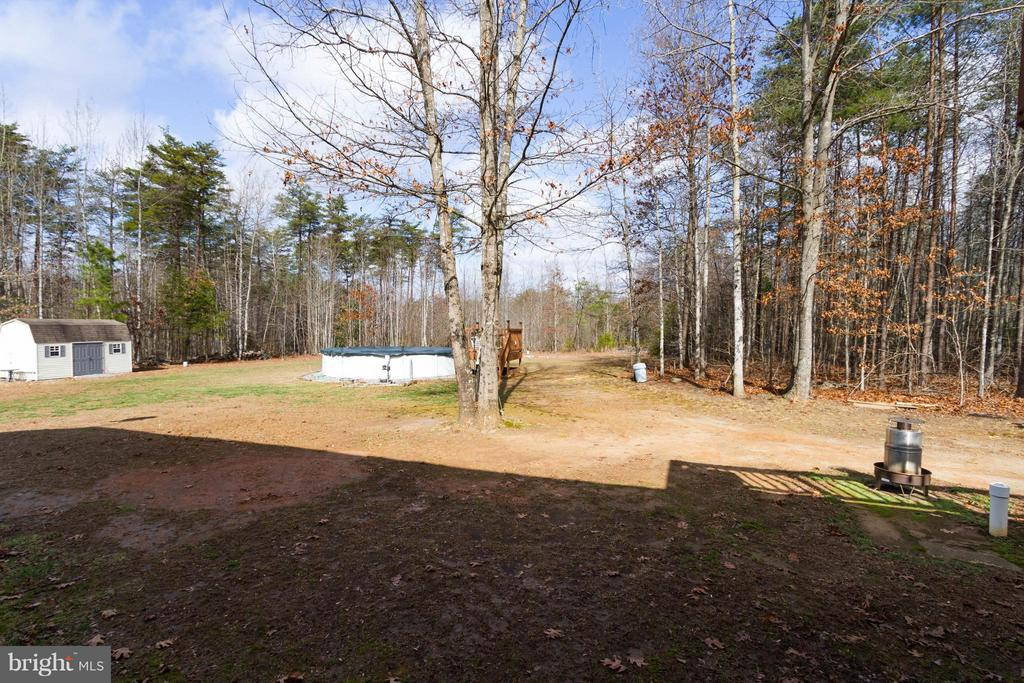 View-Rear Yard - 7007 HUNTERS TRACE WAY, SPOTSYLVANIA
