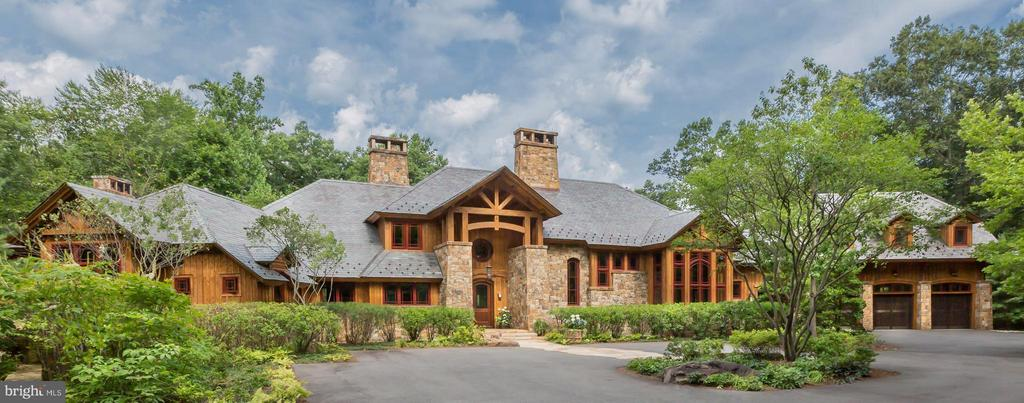 Exterior front in a majestic lodge style - 8922 JEFFERY RD, GREAT FALLS