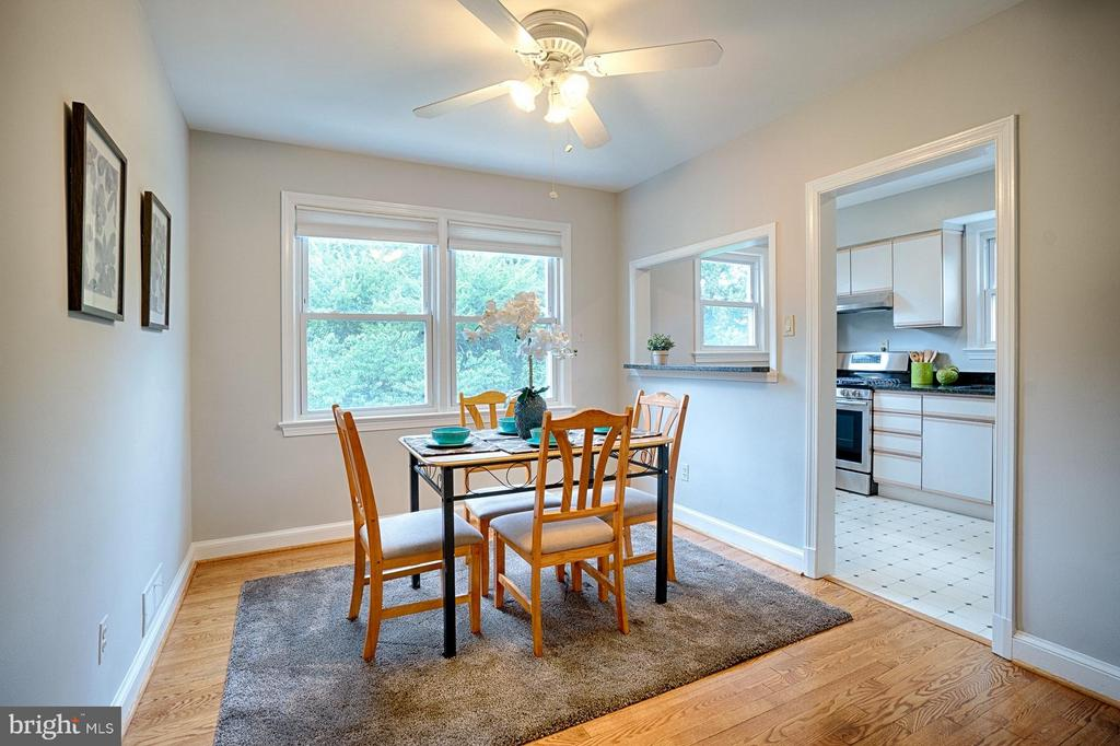 Dining Room off kitchen with views of rear yard. - 1404 RANDOLPH ST, ARLINGTON