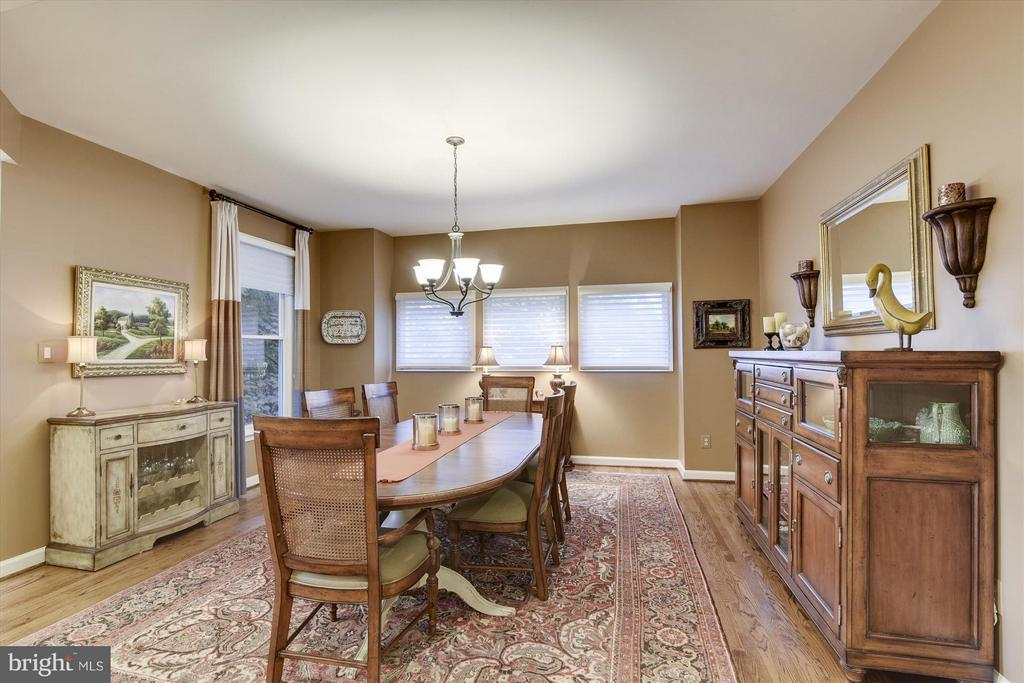 Dining Room with wall of windows - 1338 RED HAWK CIR, RESTON