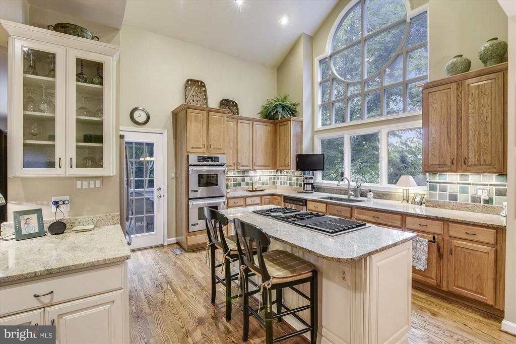 Kitchen with Hickory Cabinetry - 1338 RED HAWK CIR, RESTON