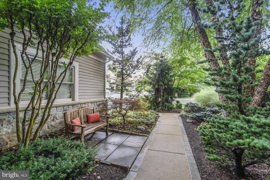 Walkway with patio leading to Front Entry - 1338 RED HAWK CIR, RESTON