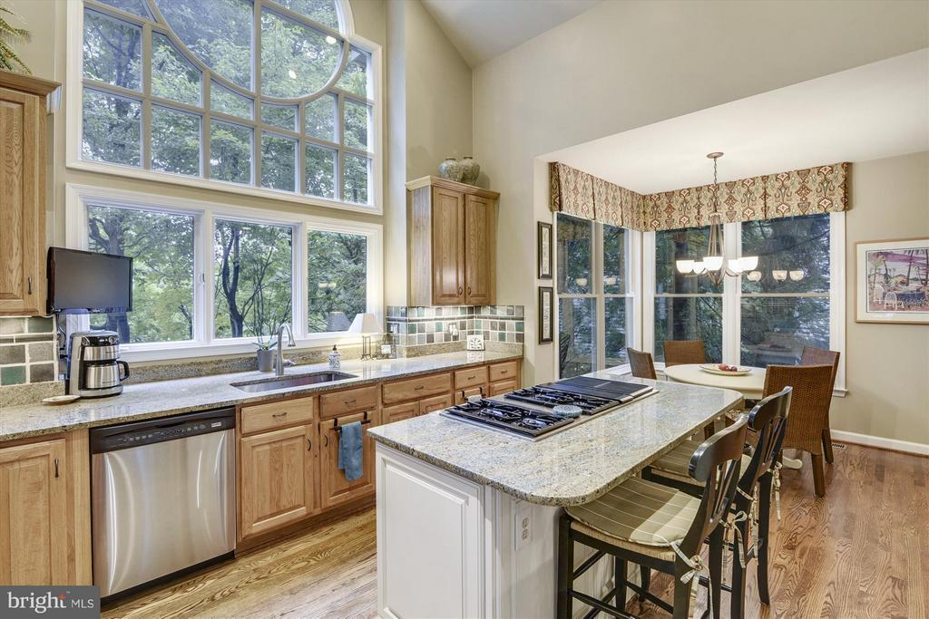 Kitchen w/large island &  great counter space - 1338 RED HAWK CIR, RESTON