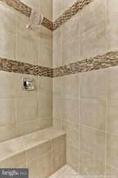 Luxury tile in the master shower - 2700 PARK MILLS RD, ADAMSTOWN