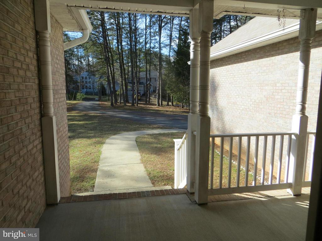 View from front door- home set back off street - 518 HARRISON CIR, LOCUST GROVE