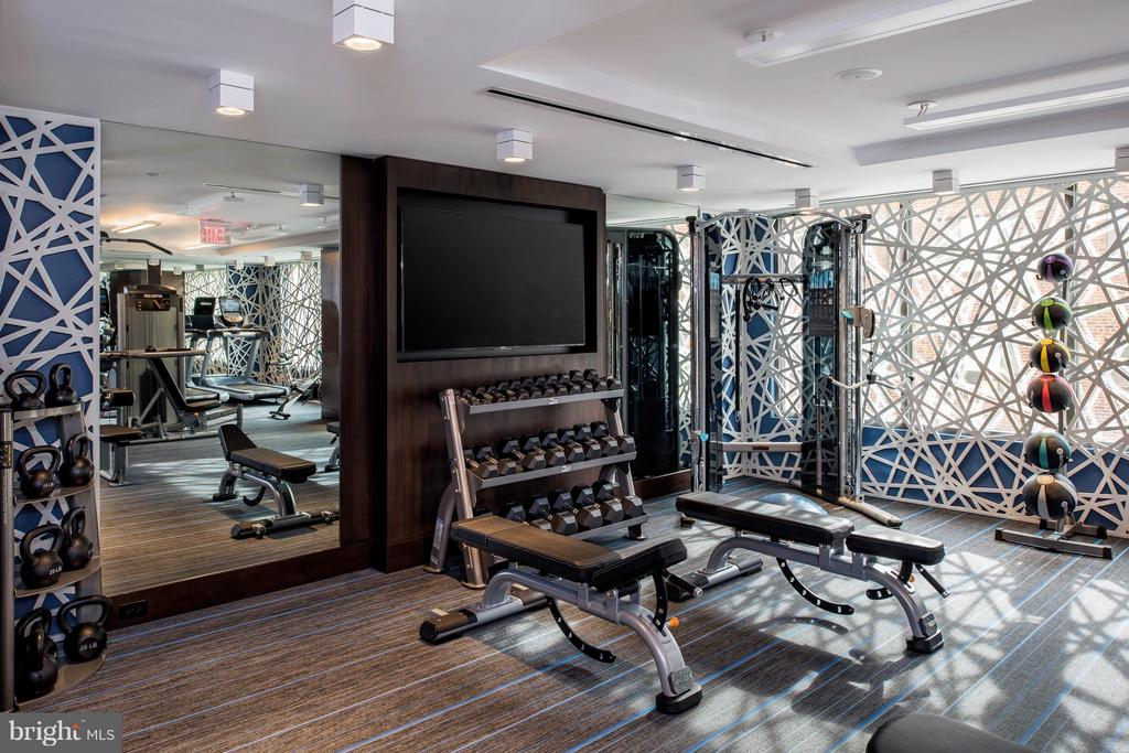 Fitness center - 8302 WOODMONT #701, BETHESDA