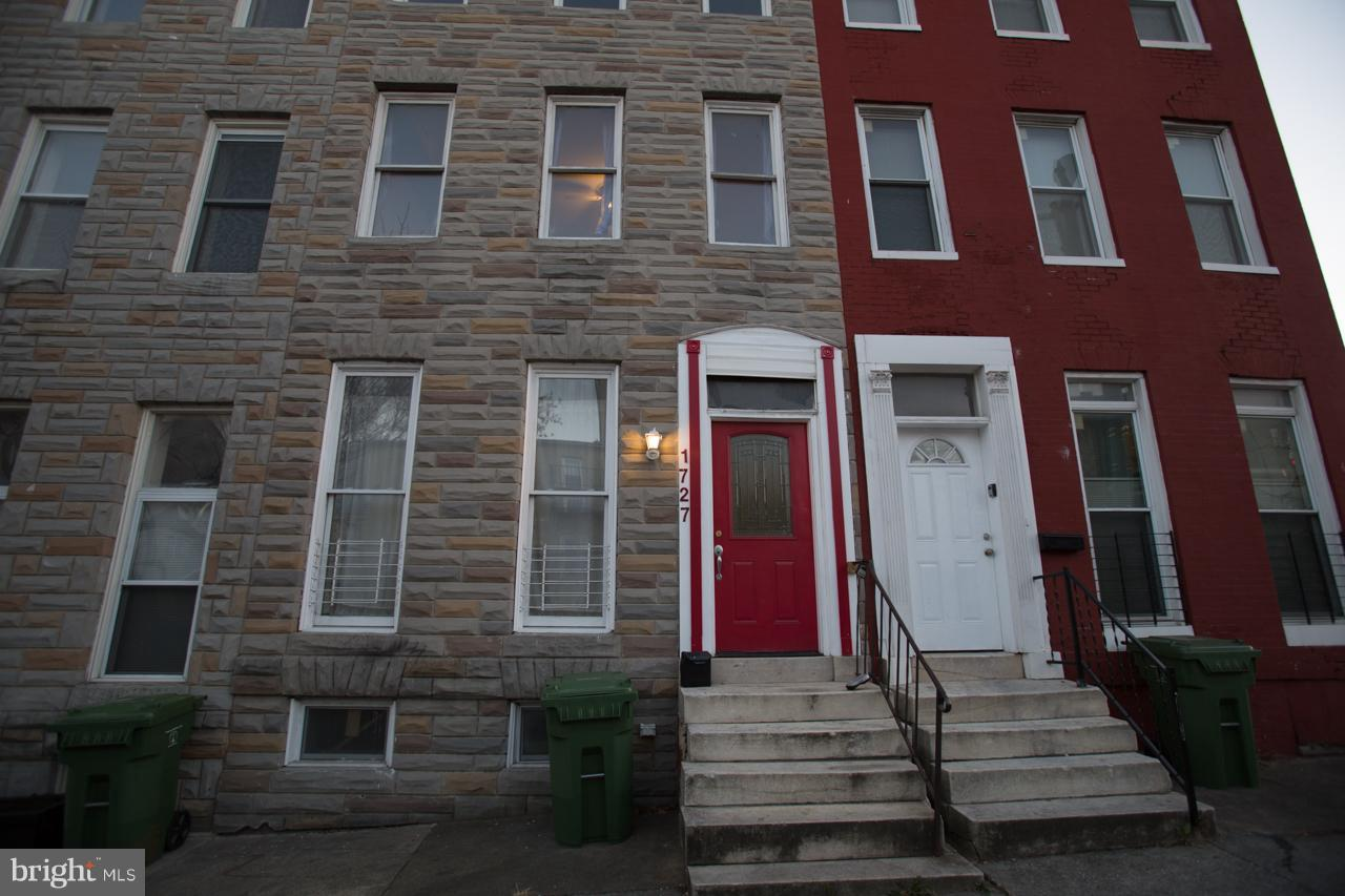 Single Family for Sale at 1727 Lombard St W Baltimore, Maryland 21223 United States
