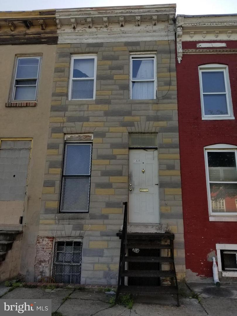 Single Family for Sale at 1325 Ensor St Baltimore, Maryland 21202 United States