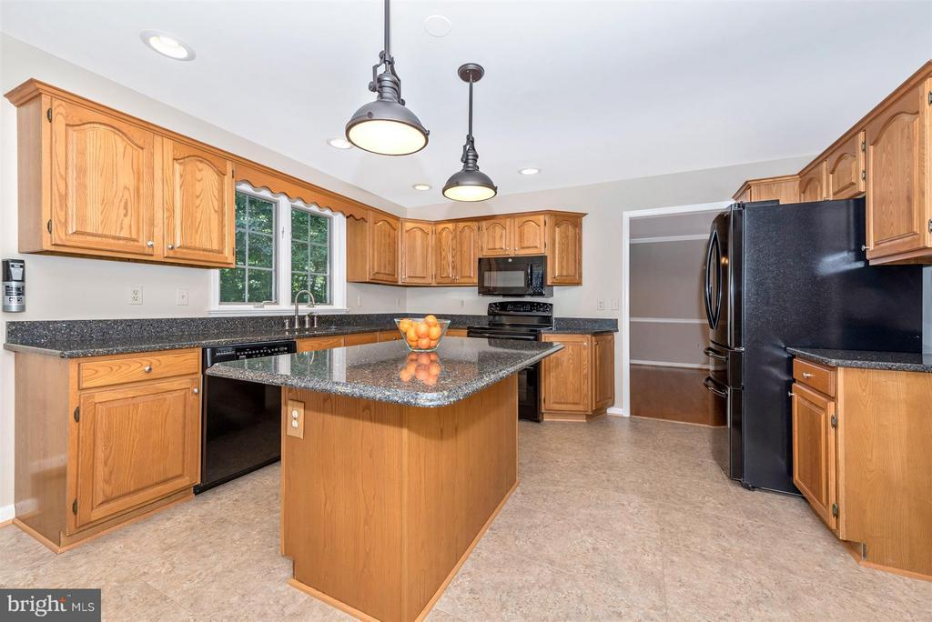 Kitchen with quartz and beautiful appliances - 4800 MARIANNE DR, MOUNT AIRY