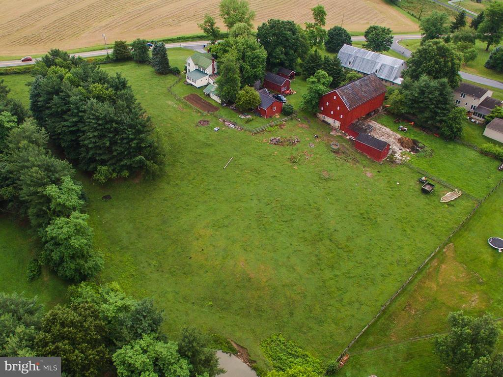 Aerial view of farmette - 11029 OLD ANNAPOLIS RD, FREDERICK