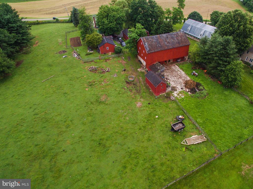 Aerial view of farm - 11029 OLD ANNAPOLIS RD, FREDERICK