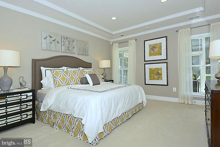 MASTER BEDROOM WITH THREE WALK IN CLOSETS - 17345 OLD FREDERICK RD, MOUNT AIRY
