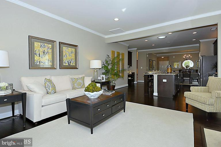 FAMILY ROOM THAT OPENS TO THE KITCHEN AND DINING - 17345 OLD FREDERICK RD, MOUNT AIRY