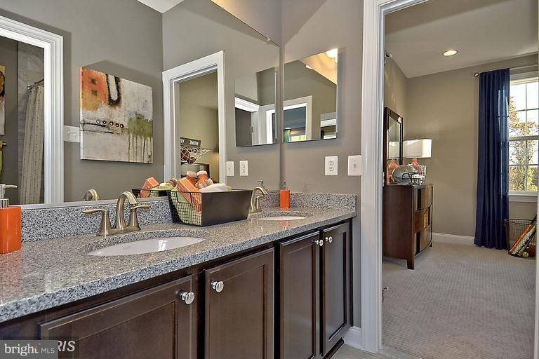 LOTS OF COUNTER SPACE IN THE MASTER BATH - 14270 BURNTWOODS RD, GLENWOOD