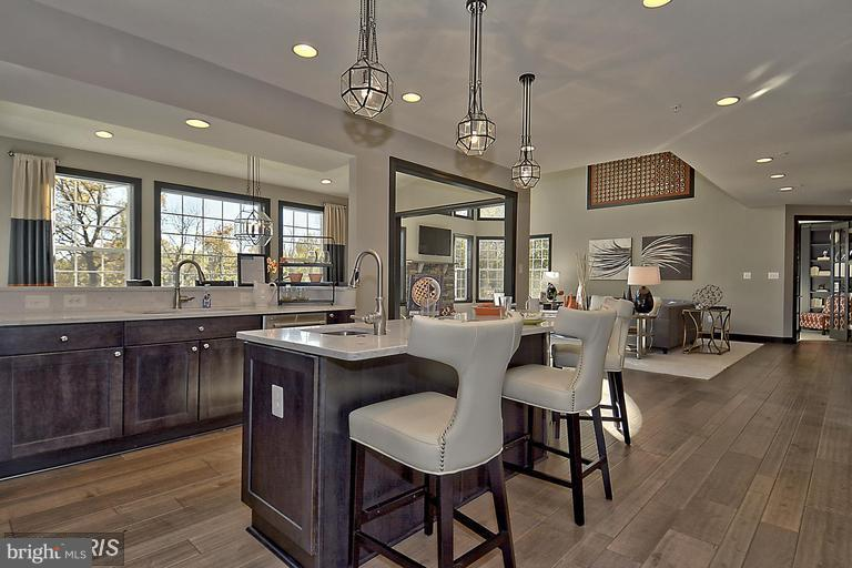 KITCHEN WITH ISLAND AND PLANNING CENTER - 14270 BURNTWOODS RD, GLENWOOD