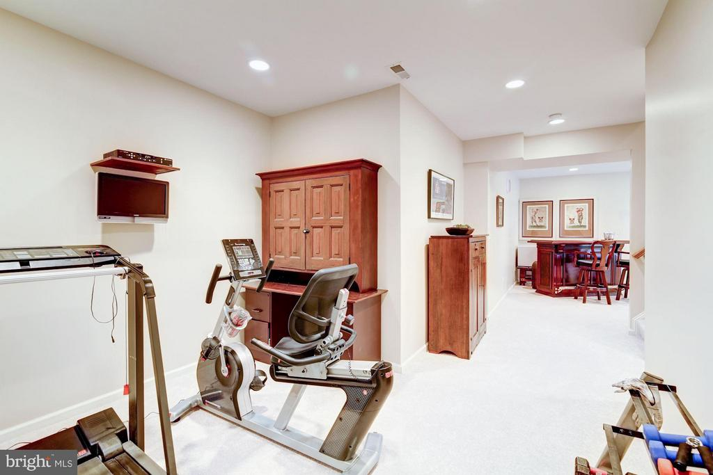 Lower Level Workout Room into Rec Room - 1320 ALDBURY WAY, RESTON