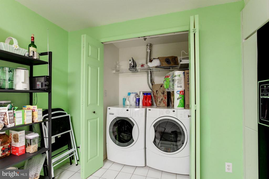 LAUNDRY CLOSET NEXT TO BREAKFAST ROOM - 5610 WISCONSIN AVE #406, CHEVY CHASE
