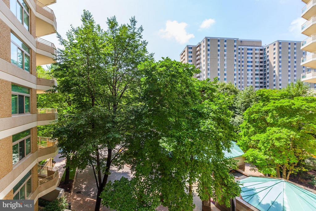 MORE TREED VIEWS FROM BALCONY - 5610 WISCONSIN AVE #406, CHEVY CHASE