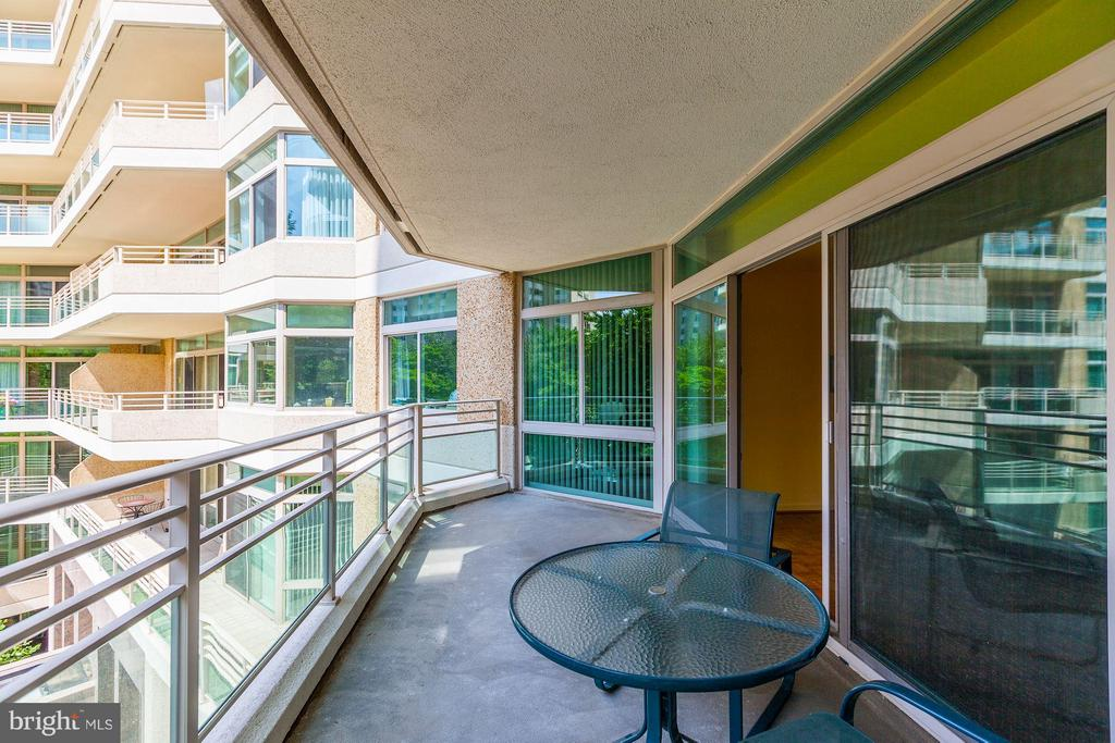 BALCONY WITH ACCESS FROM DR, LR AND 2ND BR - 5610 WISCONSIN AVE #406, CHEVY CHASE