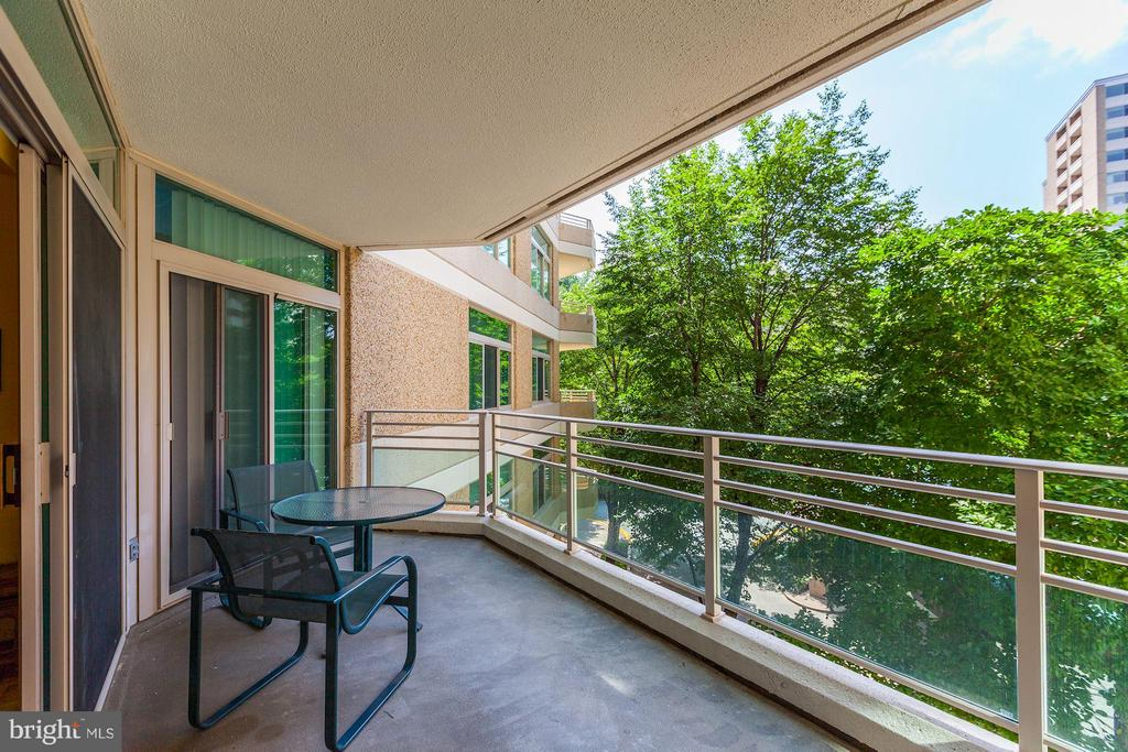 GOOD SIZED BALCONY WITH TREED VIEW - 5610 WISCONSIN AVE #406, CHEVY CHASE