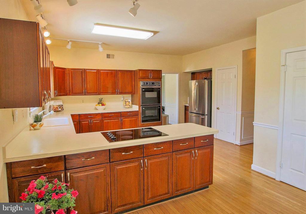 Huge kitchen! Enjoy the views of rear acreage! - 42064 BLACK WALNUT LN, LEESBURG