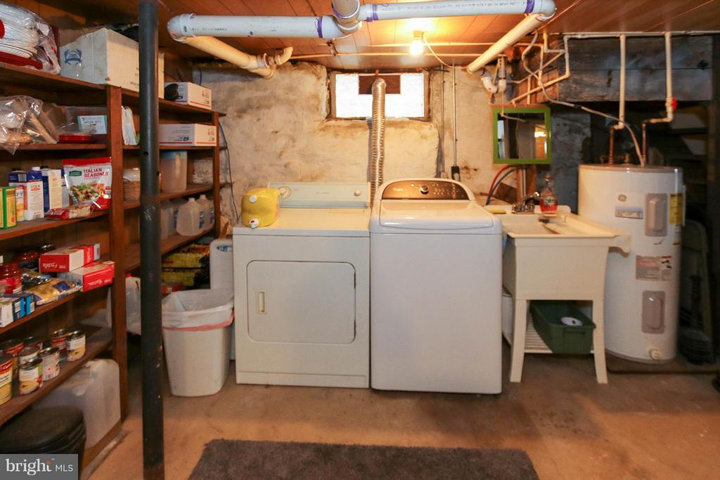 Unfurnished section of basement; lots of storage - 6 D ST, BRUNSWICK