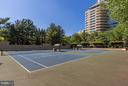 Community tennis court - 5610 WISCONSIN AVE #1606, CHEVY CHASE