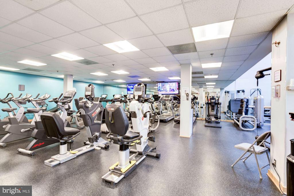 Community fitness room - 5610 WISCONSIN AVE #1606, CHEVY CHASE