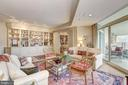 Living Room with access to balcony - 5610 WISCONSIN AVE #1606, CHEVY CHASE