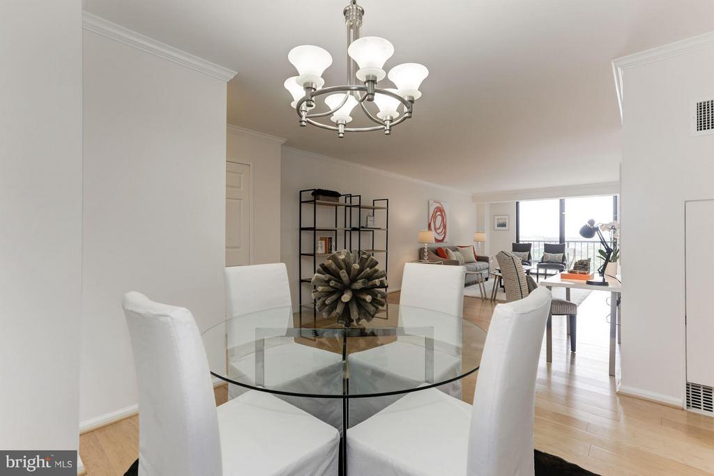 Dining - Living Room (Virtually Staged) - 1800 OLD MEADOW RD #915, MCLEAN
