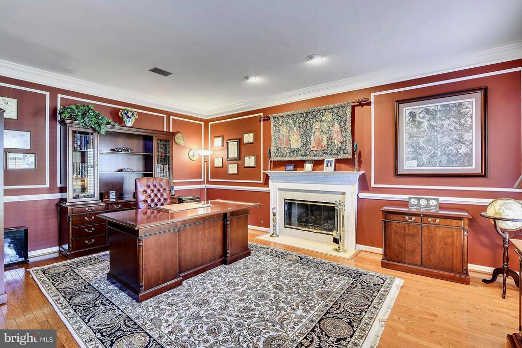 Beautiful Office with Hardwoods and Gas Fireplace - 21303 WINDRUSH CT, STERLING