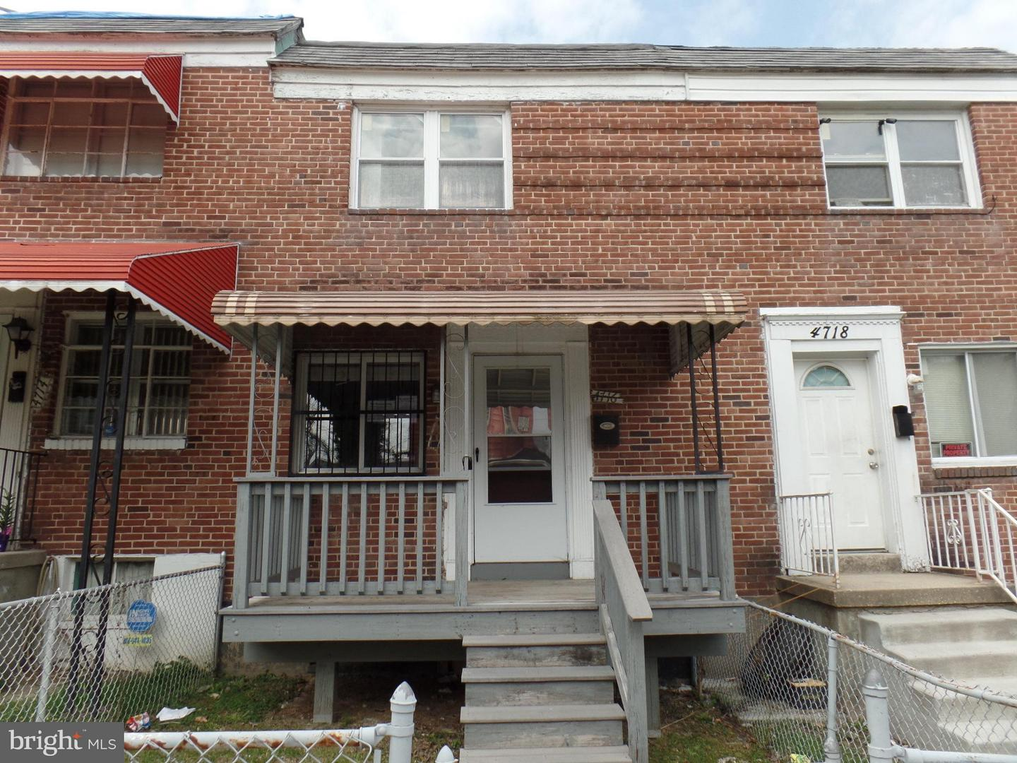 Single Family for Sale at 4716 Alhambra Ave Baltimore, Maryland 21212 United States