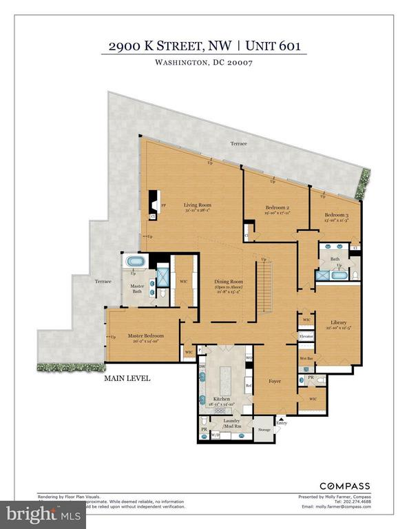 Floor Plans, Main Level - 2900 K ST NW #601, WASHINGTON