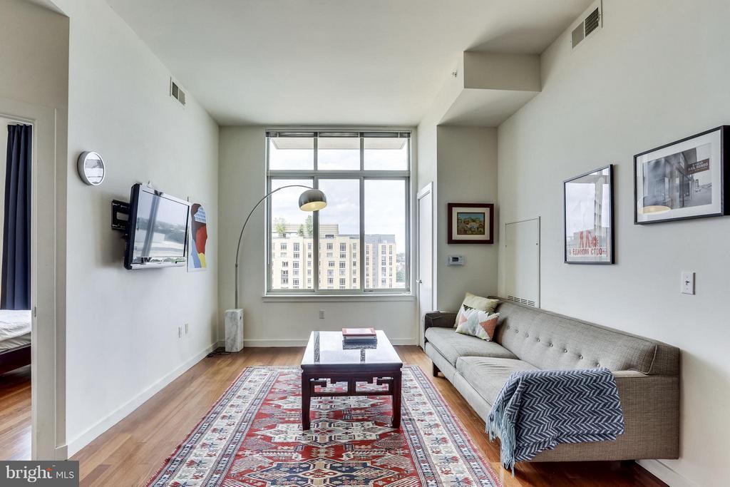 Sunny Living Room - 1000 NEW JERSEY AVE SE #PENTHOUSE 10, WASHINGTON