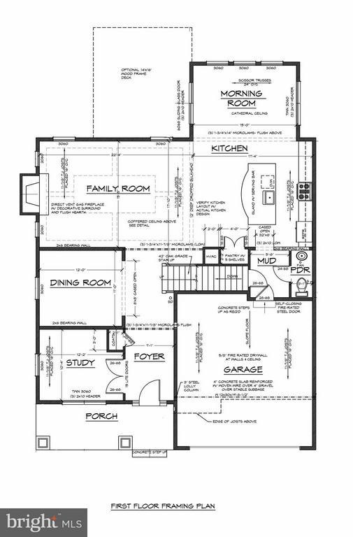 Main Level Floor Plan - 6603 ACCIPITER DR, NEW MARKET