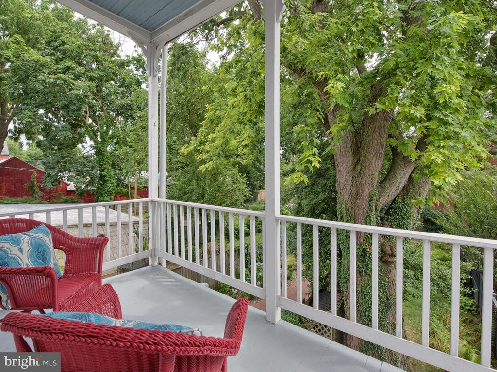 Enjoy views of your  garden from this balcony. - 30 3RD ST, FREDERICK