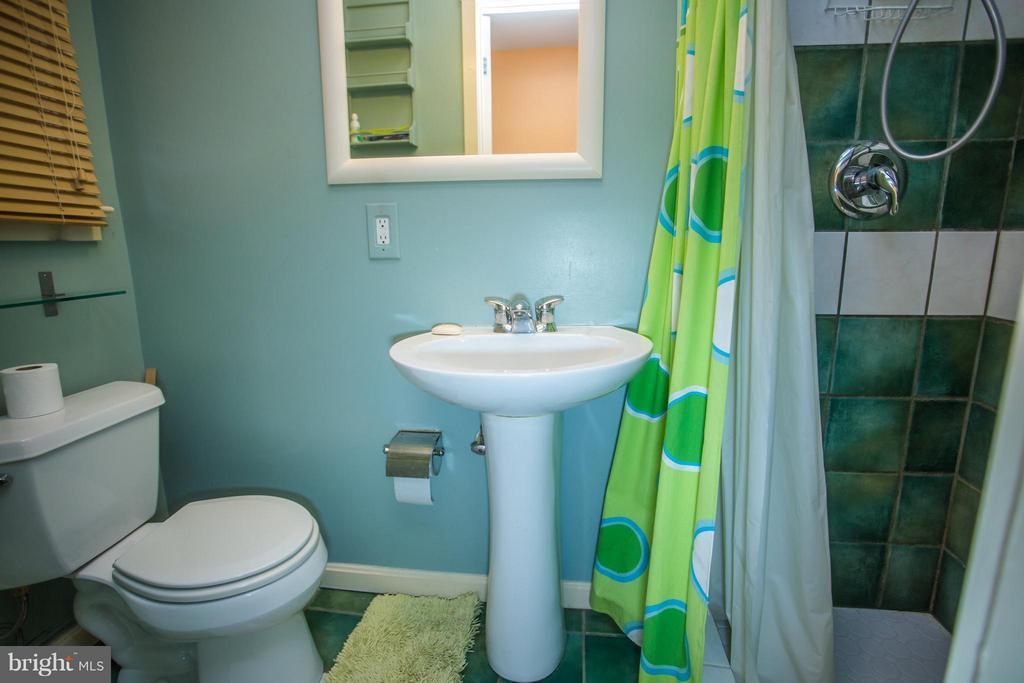 Full bathroom in the lower level - 7019 31ST ST NW, WASHINGTON