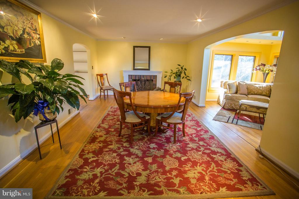 Separate formal dining room in an open concept - 7019 31ST ST NW, WASHINGTON