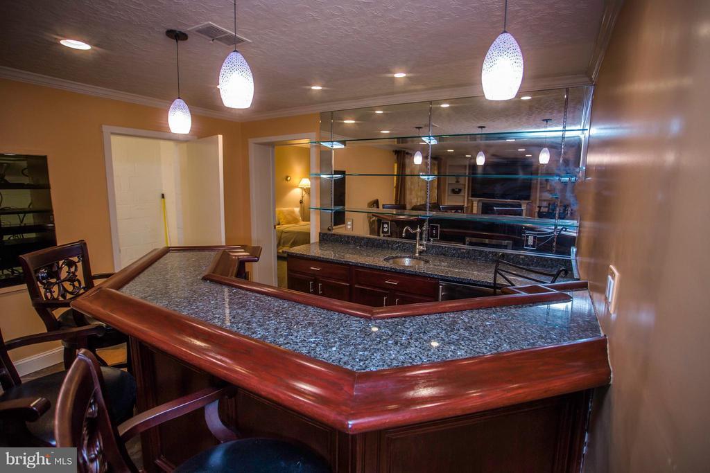 Custom wet bar w/ wine fridge, copper sink - 7019 31ST ST NW, WASHINGTON