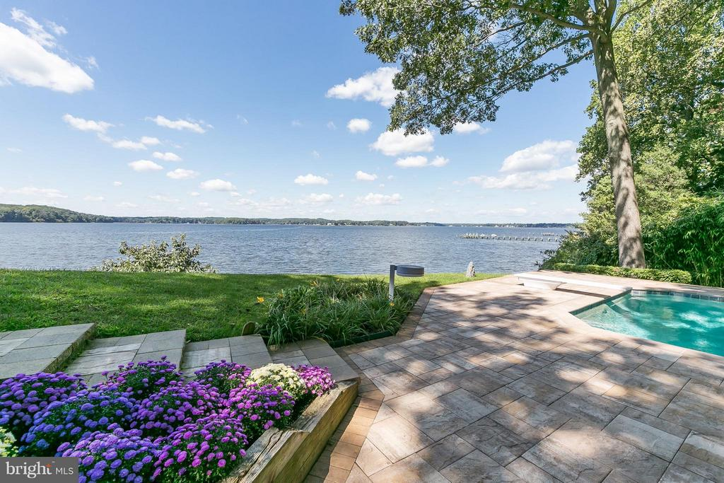 Pool & Patio w/ Severn River views - 312 RUGBY COVE RD, ARNOLD